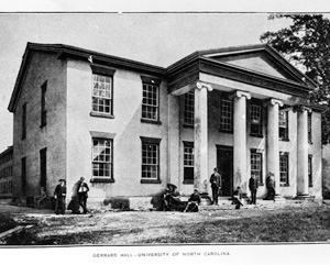 Gerrard Hall, UNC Campus. Courtesy of The Carolina Story Museum.