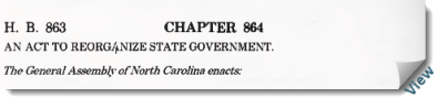 "1971 Executive Organization Act- ""An act to reorganize state government."""