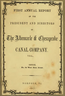 Annual report of the President and Directors of the Albemarle & Chesapeake Canal Company