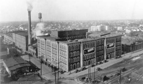 American Tobacco Company factory, circa 1926. Image courtesy of Preservation Durham, UNC Libraries.