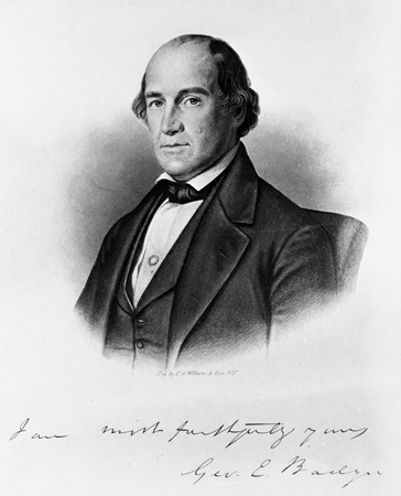 Engraving of George E. Badger with facsimile autograph, by E.G.Williams and Bro., New York. Image from the State Archives of North Carolina. Call number N_58_6_7.