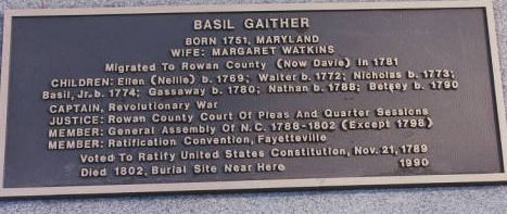 Basil Gaither Plaque. Image courtesy of DigitalNC.