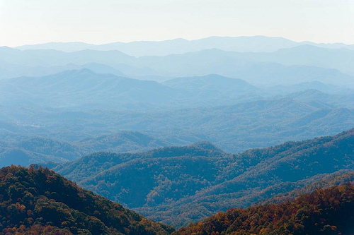 Blue Ridge Parkway, Qualla Indian Reservation overlook.