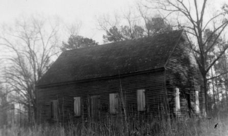 Brown Marsh Presbyterian Church, Bladen County, North Carolina, 1828. Image courtesy of Special Collections Research Center at NCSU Libraries.