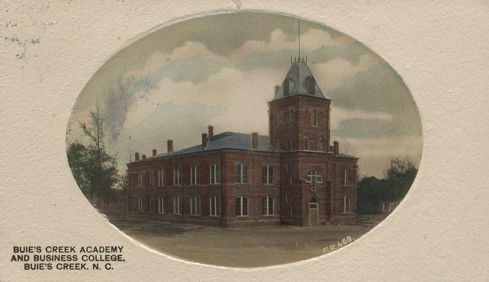 Buie's Creek Academy and Business College, 1911, Buie's Creek, N.C. Image courtesy of ECU Digital Collections.