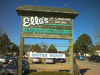 Sign for Ella's restaurant in Calabash, 2004. Image from Flickr user qthrul/Jay Cuthrell.