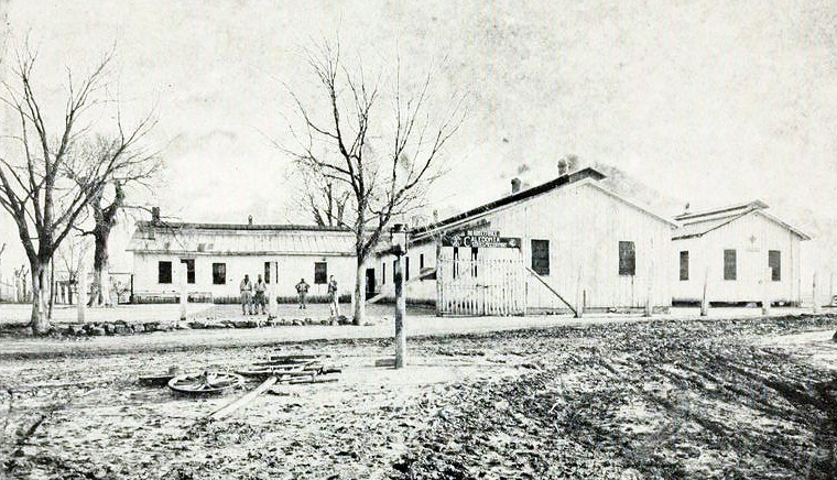 Old Stockade, Caledonia Prison Farm, 1926. Image from the Biennial report of the State's Prison 1925-1926 in the North Carolina Digital Collections..