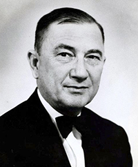 Dr. Douglas L. Rights, winner of a 1948 Cannon Award for his work on 'The Records of the Moravians in North Carolina.'