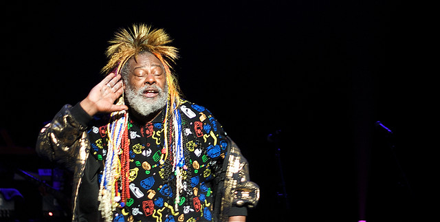 George Clinton performing at the Royal Festival Hall in London, on June 21, 2008. Image from Flickr user neil365.