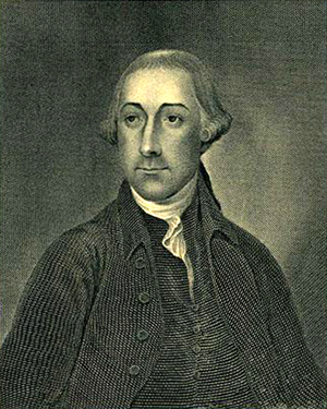 Engraving of Joseph Hewes. Image from the North Carolina Museum of History.