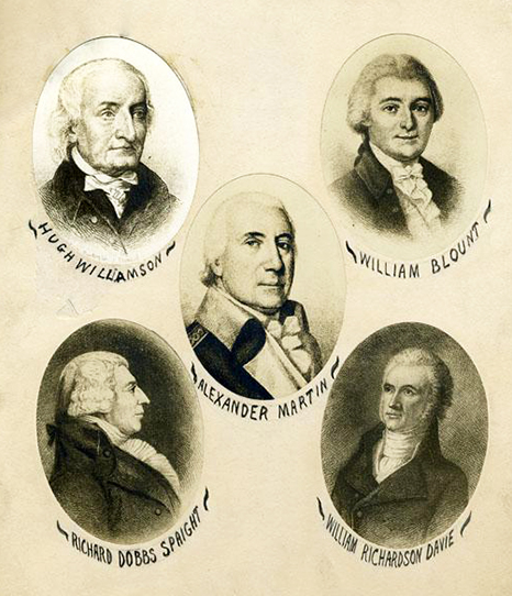 Portraits of the North Carolina delegates to the Constitutional Convention of 1787. Image from the North Carolina Museum of History.