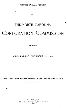 Annual report of the North Carolina Corporation Commission for the year 1902