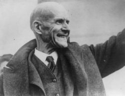 Eugene V. Debs, 5 times Socialist candidate for President, set free from prison on Christmas Day, December 25, 1921. Image courtesy of Library of Congress.