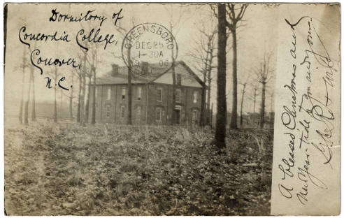 Dormitory of Concordia College, Conover, N. C.. Image courtesy of UNC Libraries.