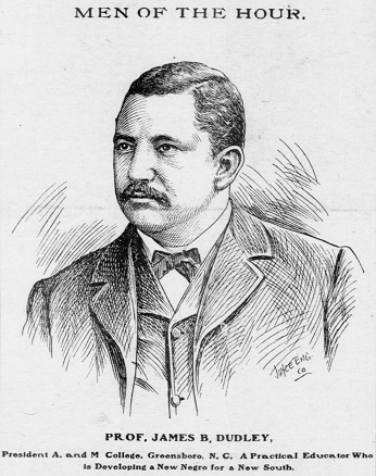 Engraving of James Benson Dudley from 1902.
