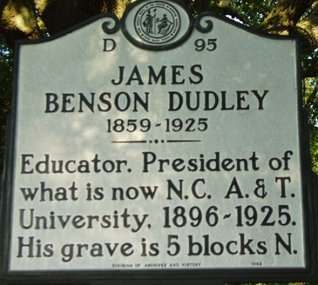 North Carolina Highway Historical Marker for James Dudley Benton