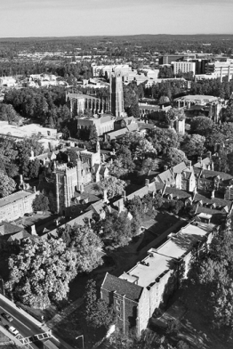 West Campus of Duke University, with Duke Chapel in the upper center of this aerial view. Photograph courtesy of North Carolina Division of Tourism, Film, and Sports Development.