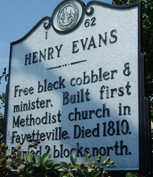 North Carolina Historical Highway Marker for Henry Evans