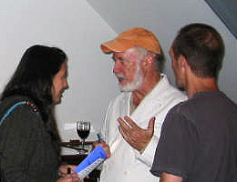 Author Allan Gurganus at the Hillsborough Literary Association's Short Film Festival, Hillsborough, N.C., May 29, 2008. Image from Flickr user Visit Hillsborough.