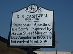 Gaston Cashwell, NC Historical Marker. Image courtesy of the North Carolina Office of History & Archives.