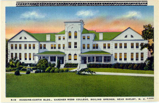Huggins-Curtis Building at Gardner-Webb. Image courtesy of NC Office of Archives & History.