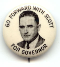 Kerr Scott campaign button from 1948.