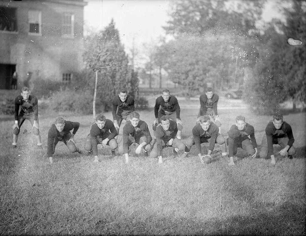 Unidentified football team, circa 1920, from the Dunn area