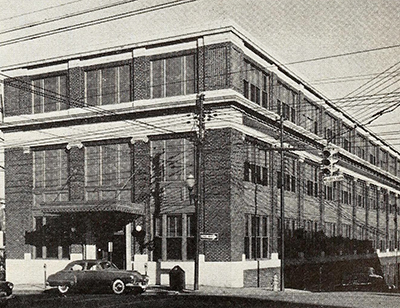 Building of the Greensboro Daily News and Greensboro Daily Record, 1951. Image from Archive.org.
