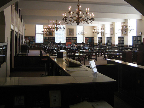 The North Carolina Collection Reading Room, Wilson Library, University of North Carolina at Chapel Hill, 2007. Image from Flickr user eekim.