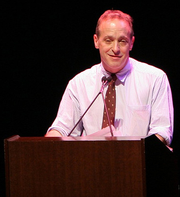 Author David Sedaris at the San Jose Center for Performing Arts, October 29, 2007. Image from Flickr user  Michael Huang.