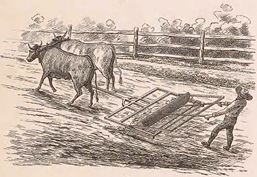 Early road making equipment, circa 1840. Image from Archive.org.