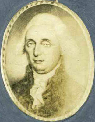 Photograph of the miniature portrait of Samuel Johnston by Charles Willson Peale. Image from the North Carolina Museum of History.