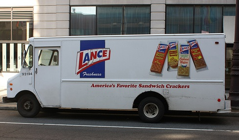 A Lance, Inc. delivery truck in Philadelphia, Pennsylvania, 2010. Image from Flickr user Ezra.Wolfe.