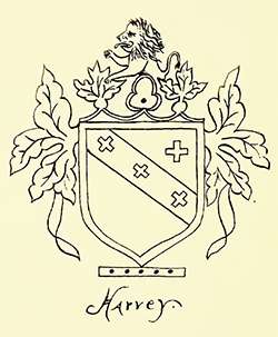 Coat of arms of John Harvey, Speaker of the House of North Carolina. Image from the North Carolina Digital Collections.