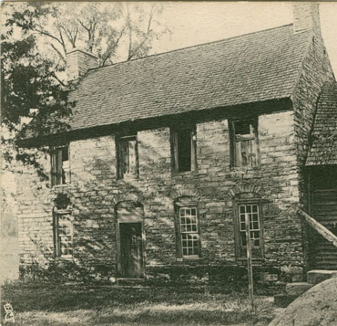 German Michael Braun House, built in 1766, Salisbury, NC. Image courtesy of Rowan County Public Library.