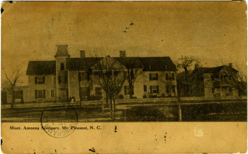 Mont. Amoena Seminary, Mt. Pleasant, N. C. , ca 1908. Image courtesy of the North Carolina Collection.