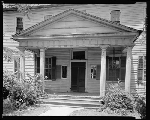 Jacob Mordecai's home and school in Warrenton, N.C. From the Carnegie Survey of the Architecture of the South, Library of Congress Prints & Photographs Online.