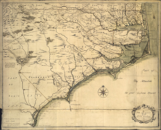 A New and Correct Map of the Province of North Carolina drawn from the Original of Colo. Mosely's.