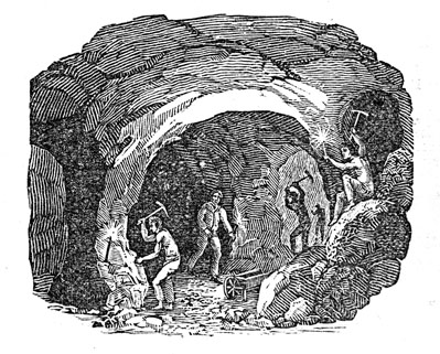 Gold mining in the 1850s.