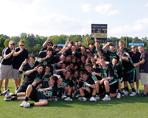 2010 NCHSAA Men's Lacrosse Championship, Apex vs Myers Park. Image courtesy of Flickr Creative Commons user KarlFisher.