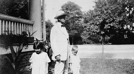Miles O. Sherrill and children
