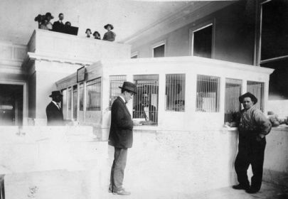 First Citizens Bank opening, B. M. Roberson and Larkin Wilder, 1919. Image courtesy of the State Archives of North Carolina, call #: N_97_7_832.