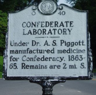 Confedorate Laboratory marker # O-40. Image courtesy of NC Historical Markers, North Carolina Office of Archives & History.