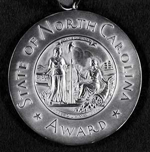 The North Carolina Award. Image from the North Carolina Museum of History.