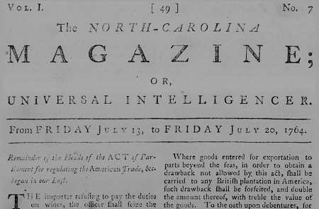 Volume 1, number 7 of The North Carolina Magazine; or, Universal Intelligencer