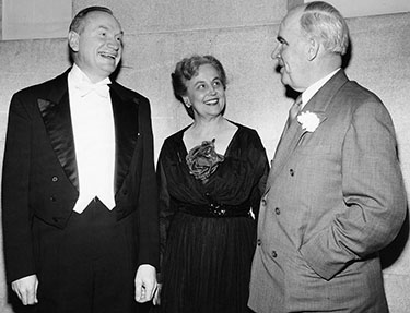 Mr. and Mrs. Swalin with North Carolina governor Luther Hodges, 1955. Image from the North Carolina Museum of History.