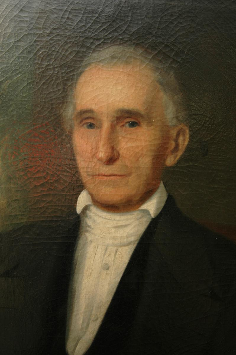 Oil painting of William Peace by William Garl Browne. Image from the William Peace University Flickr photo stream.