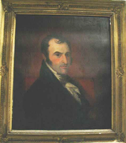 Image of oil portrait of Jesse A. Pearson, made circa 1820.  Attributed to James McGibbon.  Item # H.1980.20.1 , from the collections of the North Carolina Museum of History.