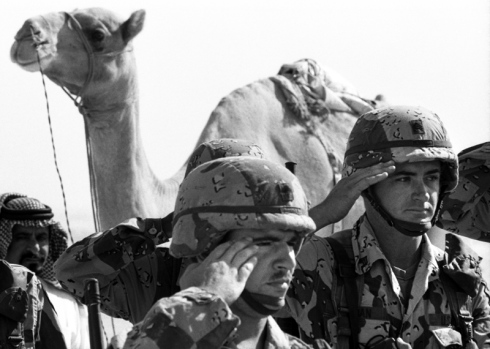 Operation Desert Shield Saudi Arabia, Aug. 9, 1990. Image courtesy of Fort Bragg, U.S. Army.
