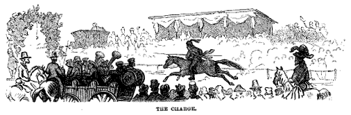 Illustration of a Ring Tournament from Harper's New Monthly Magazine, 1875. Image from Cornell University Library.